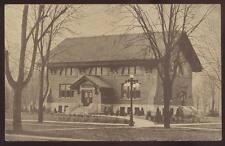 Postcard AUBURN Indiana/IN  Eckhart Public Library w/Promo Ad 1907?