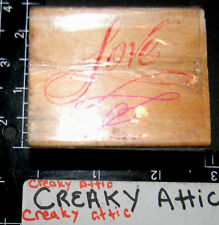LOVE FANCY RUBBER STAMP EMBOSSING ARTS