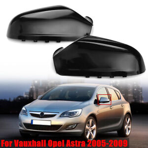 Pair Wing Mirror Cover Cap for Opel Vauxhall Astra 2004-2009 Saturn Astra 08-10
