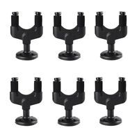 6Pack Guitar Bass Wall Mount Hanger Stand Holder Hooks Display Acoustic Electric