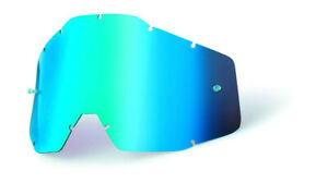 Mirror blue replacement lens for 100% offroad goggles - 100%