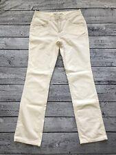 Limited Too Girls Ivory Cream Corduroy Pants Sz 16 1/2 Rhinestones