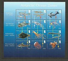 Brits Antarctica 2016   Oceaan zones zeedieren  vissen  vel   postfris/mnh