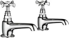 Mira Virtue Separate Hot and Cold Bathroom Basin Taps Chrome 2.1820.002