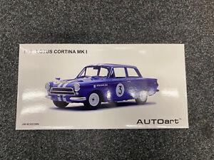 Autoart 1:18 Lotus Cortina Mk 1 Blue Neptune Racing NEW RARE CAR