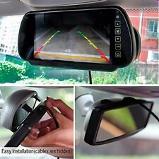 """7"""" 7W Color Car Video Rearview Mirror Monitor with License Plate Backup Camera"""