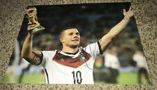 Lukas Podolski Signed 11x14 Photo With Proof Germany World Cup