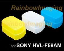 Blue+Yellow+white kit Bounce Flash Diffuser for SONY HVL-F58AM & Nissin Di866