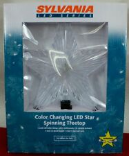 """SYLVANIA LED Spinning Color Changing 9"""" Star Tree Top 5 LED Bulbs Change Colors"""