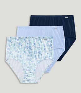 JOCKEY Elance Womens PLUS (3 Pk) Cotton Brief Panties Size 8 #1486 NIP