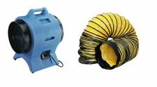 """Americ VAF3000A Confined Space Ventilation Blower Fan and 12"""" x 25 Foot Ducting"""