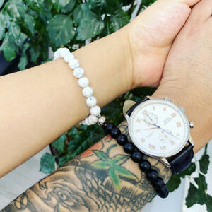Attractive couples charm best friend stoned bracelet Natural Volcanic rocks 2021