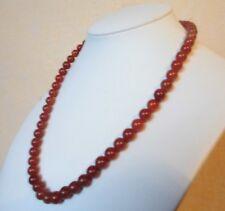 """Edelsteinkette Rot Achat Collier 46cm Halskette 8 - 8,5 mm Perlen  """"True Gems"""""""