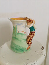Burleigh wear jug  golf   1920s nice colours 20cms high approx