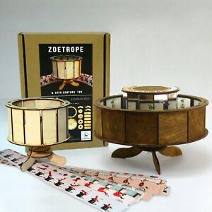 Praxinoscope + Zoetrope. Optical antique animation toys