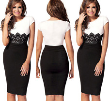 UK Womens Celebrity Formal Lace Bodycon Pencil Cocktail Party Evening Mini Dress