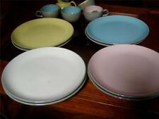 VINTAGE MID CENTURY HARKERWARE PRIMARY COLOR DISHES/CUPS/SAUCERS...LARGE LOT