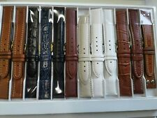 Sell a lot 90 pcs genuine leather watch strap band mix from 12mm to 20mm = 89$