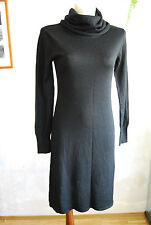 vintage black knit turtleneck long slevees dress UK 12