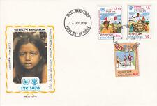 Bangladesch FDC Ersttagsbrief 1979 Jahr des Kindes Mi.Nr.128-30