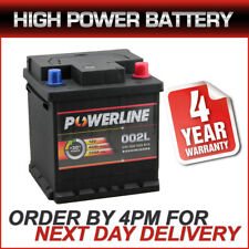 002L / 202 Powerline Car Battery fits many Citr Fiat Peug Seat Skoda Toyota Vaux