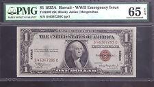FR#2300 $1 1935A HAWAII-WWII EMERGENCY ISSUE PMG 65EPQ GEM UNC