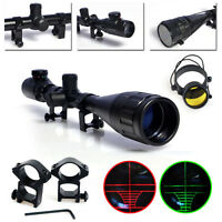 6-24x50 Red and Green Illuminated Air Rifle Gun Hunting Scope Fitted 20mm Mounts