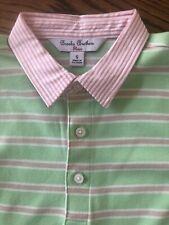 Brooks Brothers Girls Cotton Stripe Dress Kids Girls Size S Pink Green