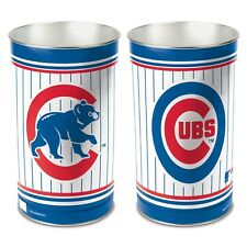 """CHICAGO CUBS 15""""X10.5"""" TRASH CAN WASTEBASKET BRAND NEW FREE SHIPPING WINCRAFT"""