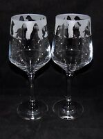 "New Etched ""COCKER SPANIEL"" Wine Glass(es) - Free Gift Box - Large 390mls Glass"