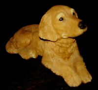 VINTAGE Golden Retriever Figurine SANDICAST 1983- Signed Sandra Brue
