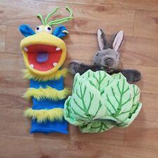 Puppet Company Bundle Lettuce Bunny Rabbit And Ringo Sock Monster Blue Yellow