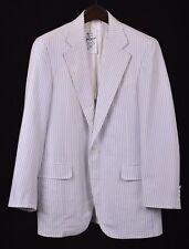 Paul Stuart Blue White Regatta Boating Stripe Cotton Blazer Sport Coat Jacket 39