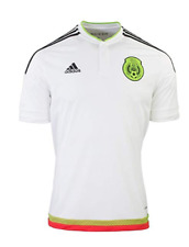 ac73ab5d13b adidas Soccer Futbol Football 2015/2016 Away Kit Mexico Jersey White M36019  Sz S