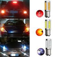 BAU15s P21W 1157 LED Car Backup Reverse Light Amber Bulb 33-SMD DC 12V