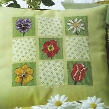 Stickvorlage * Blütenfelder * Kissen mit Blütenfeldern Kreuzstich Anchor