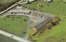 HARRISBURG, PA Pennsylvania  CLOVERLEAF MOTEL~Aerial  ROADSIDE  Chrome Postcard