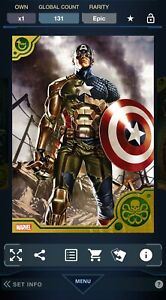 Topps Marvel Collect Hydra Captain America #7 Avengers vs Hydra Medallions Epic