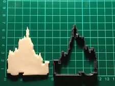 disney castle princess Plastic Cookie Cutter Fondant Decorating Cupcake size UK