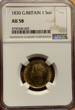 SOVEREIGN 1830 NGC AU58 GREAT BRITAIN