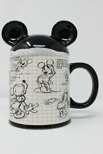 New listing New Disney Sketchbook Mickey Mouse Mug Coffee Cup with Cover 90 Years of Magic