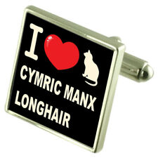 I Love My Cat Sterling Silver 925 Cufflinks Bond Money Clip Cymric Manx Longhair