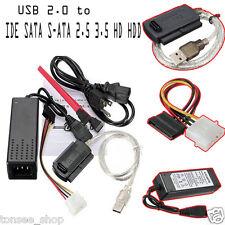USB 2.0 Nach IDE SATA S-ATA 2.5 3.5 HD HDD Hart Fahrt Adapter Konverter Kabel