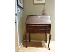 Antique Oak Slant Front Drop Secretary Desk By Witbeck & Ranger