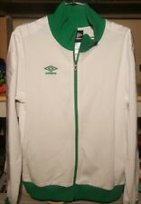 Umbro Diamond Taped coaches Track Jacket mens large Authentic White Green Soccer