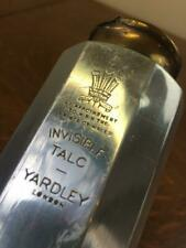 Vintage Yardley Of London Invisible Talc HRH Prince of Wales Silver Gold Bottle