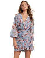 NWT FOREVER NEW Valentina Pleated Wrap Mini Dress - size 10 - RRP $159.99