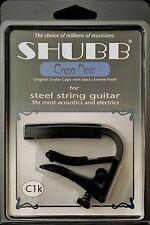 Shubb C1k Capo Steel String Guitar - Black CAPO NOIR - Acoustic & Electrics