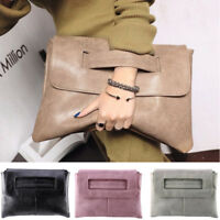Fashion Leather Women's Ladies Suede Clutch Bag Evening Prom Handbag Tote Bags