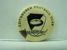 Edithburgh Footbal Club Season 1927 pin back badge        369
